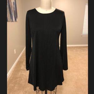 Long Sleeve Black Dress, size Large